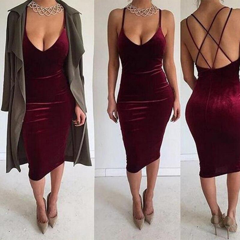 Black friday party dress women 2017 summer new Low-cut V-neck Spaghetti strap dress nightclub sexy gold velvet Dress X46