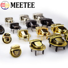 2pcs Meetee Metal Round Clasp Turn Twist Lock Buckle for DIY Handbag Bag Purse Hardware Closure Part Luggage Accessories H4-2