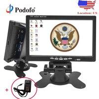 Podofo 7 HD LCD Monitor Computer & TV Display CCTV Security Surveillance Screen HDMI LCD Monitors With HDMI/ VGA/ Video/ Audio