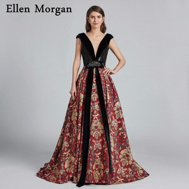 Pattern Beautiful Evening Dresses 2019 Robe De Soiree Saudi Arabian Dubai Caftan Lace Up Sexy Elegant Formal Prom Party Gowns