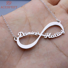 Personalized Name Necklace Infinity Pendant Choker Custom Jewelry Best Friends Gift Silver Chain Collares Largos De Moda 2018