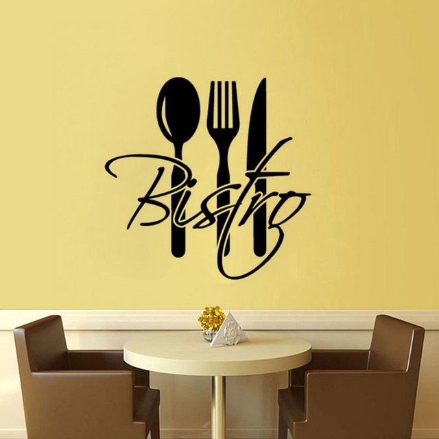 Creative Restaurant Bar Kitchen Wall Stickers Home Decor PVC ...