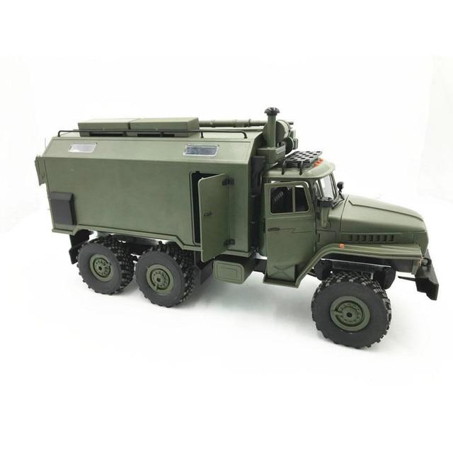 e59b1f542 WPL modelo B36 camión RC Crawler Mini coche Off-Road remoto 1:1 Control  Ural vehículo militar subir juguetes para adultos DIY RTR Carro Eletrico