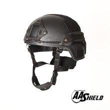 AA Shield Ballistic MICH Tactical Version Kevlar Helmet  Color Black Bulletproof Aramid Safety NIJ Level IIIA  Military Army