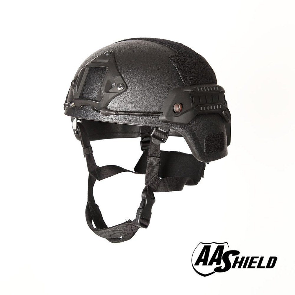 AA Shield Ballistic MICH Tactical Version Teijin Helmet  Color Black Bulletproof Aramid Safety NIJ Level IIIA  Military Army
