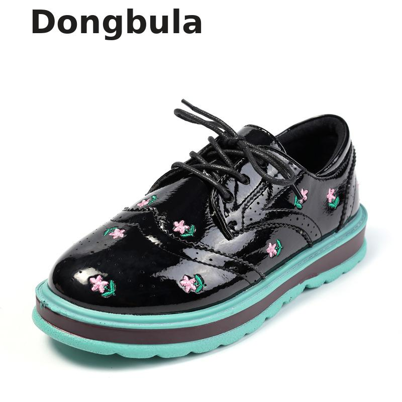 Children Leather Shoes For Girls Flat Wedding British Style Kids Oxford Shoes White Black School Fashion(big/little Kids) 2018Children Leather Shoes For Girls Flat Wedding British Style Kids Oxford Shoes White Black School Fashion(big/little Kids) 2018