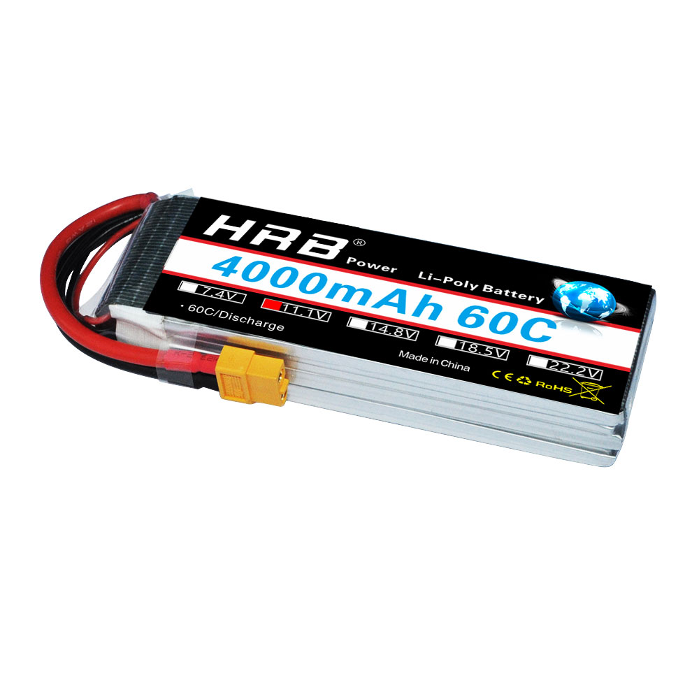 HRB Lipo 3S Battery 11.1V 4000mAh 60C MAX 120C Drone AKKU For Helicopter RC Car Trex 500 Airplane Quadcopterr boat Truck Li-ion tcbworth 11 1v 3300mah 60c 120c 3s rc lipo battery for rc airplane helicopter quadrotor drone car boat truck li ion battery