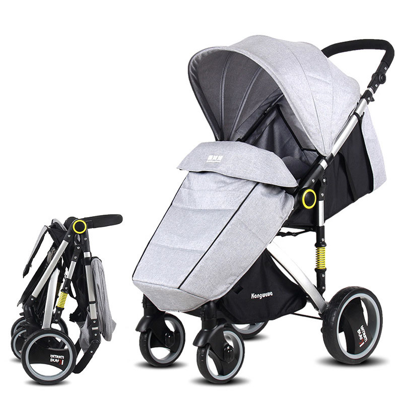 aimile baby stroller 2 in1 stroller four seasons russia free shipping baby stroller carriage baby walker pram pushchairs four Wheel damping folding light weight four seasons Russia