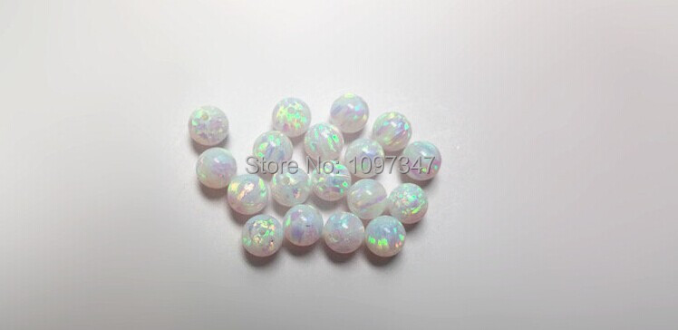 Image 3 - Opal  Bead 3mm/4mm/5mm/6mm/7mm Opal Synthetic Beads White Fire Synthetic Opal Ball-in Beads from Jewelry & Accessories