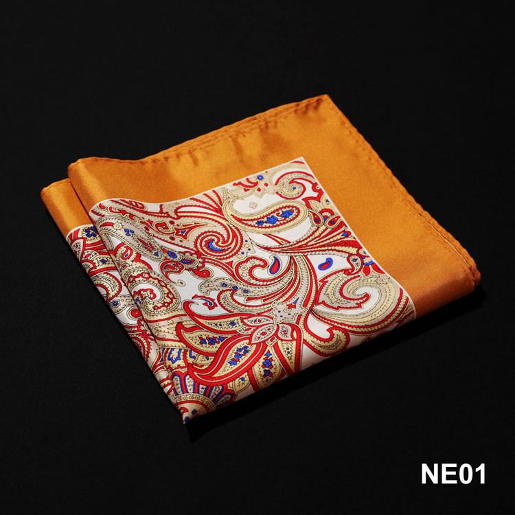 NE01 HN06N Orange Red Paisley