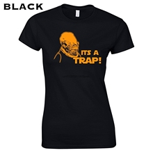 Its A Trap Funny 80S Movie Sci Fi Geek Nerd Ackbar Quote Admiral Vintage Retro  Womens T Shirt  Apparel Clothing  183