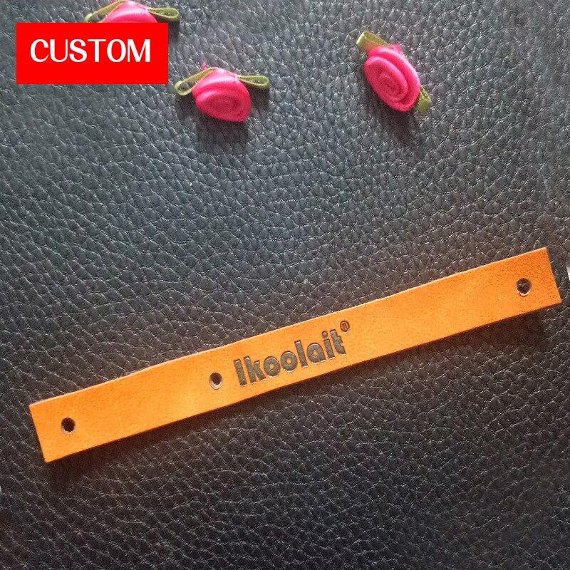 Usine privée personnalisée PU étiquettes en relief couture sur vêtements mode longue étiquettes en cuir à la main personnalisé vêtement signe