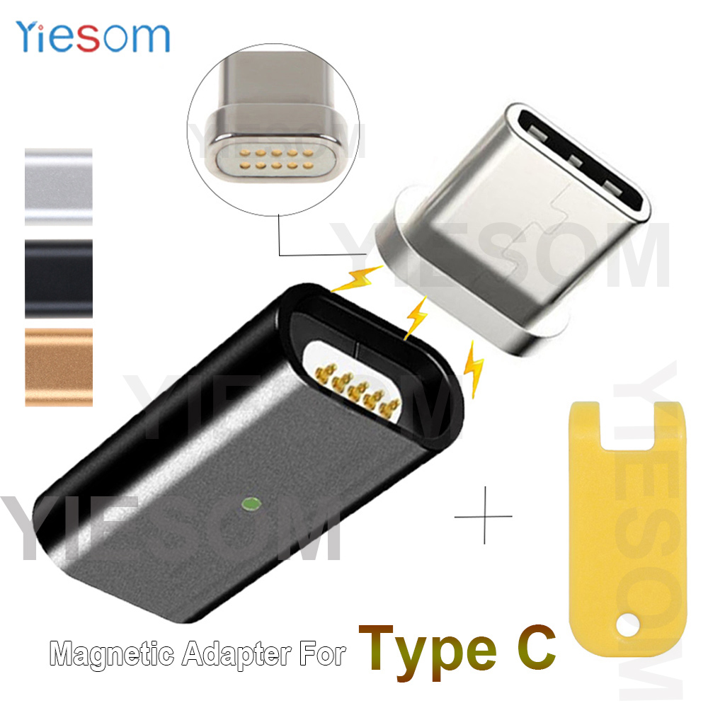 YIESOM Micro USB Adapter To Type C Adapter Magnetic Converter For SAMSUNG S8 S9 Plus Note 8 9 Magnetic Adapter Type-C Plug+Tool
