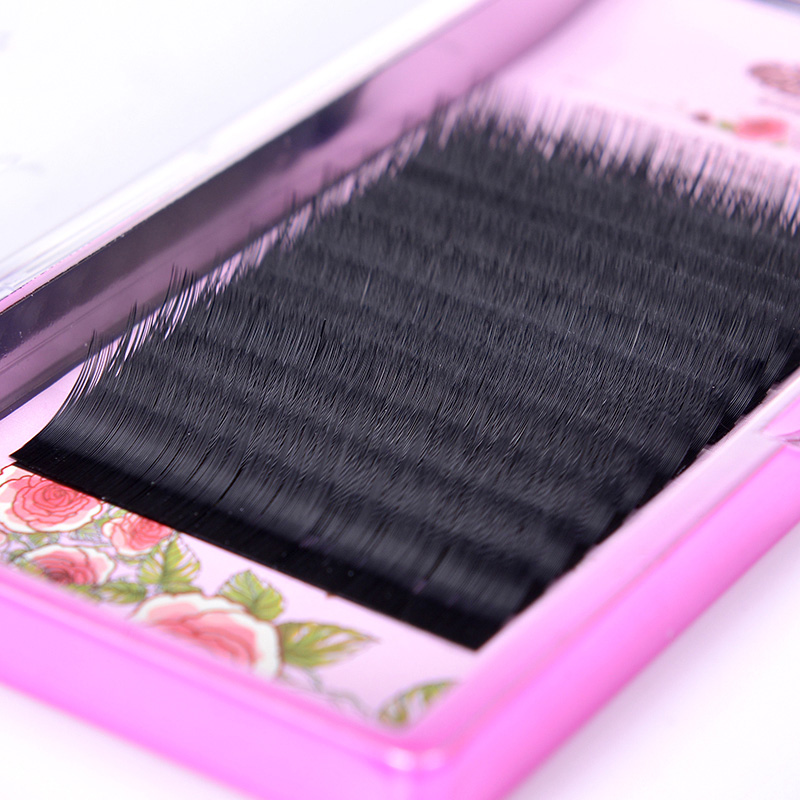 0.12C Mix length Individual Eyelash Extension Set Mink Silk Fake Eye Lashes natural soft eyelash