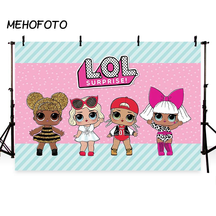 MEHOFOTO LoL Dolls Party Backdrop Photography Princess Birthday Cartoon Decoration Photo Background for Professional Custom customize home decoration photography backdrop studio background cartoon baby kid party birthday photo background g 073