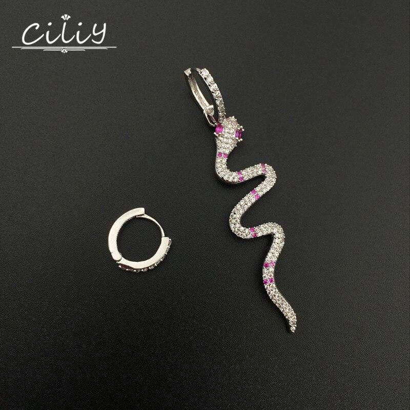 Ciliy 2018 New Lady New Fashion Snake Shape Asymmetry Drop Dangle Earrings Women Luxury Wedding Jewelry Long Earrings F2408928XM gold plated stone asymmetry dangle earrings