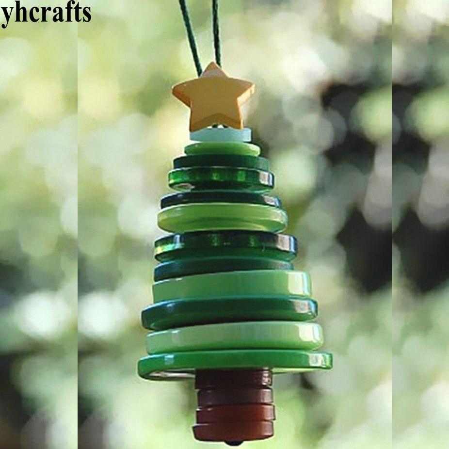 Button Christmas Trees: 100PCS/LOT Platic Button Tree Craft Kits Model Building