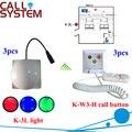 Paciente del Hospital de sistema de alarma 3 zumbador con 3 receptor de luz equipos inalámbricos