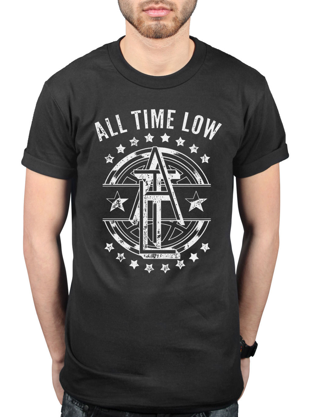 All Time Low Emblem T-Shirt Holds It Down Glamour Kills Dont Panic Tee Shirts Hipster O-Neck