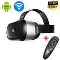 Все В Одном 3D VR Коробка М1 Google Картон Виртуальная Реальность фильм Игра Фильм Случай Головы Крепление Шлема Bluetooth WiFi + Пульт Дистанционного геймпад
