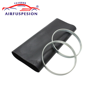 Image 3 - Rear Rubber Air Spring Sleeve With Rings for mercedes W220 Air Suspension Bladder 2203205013  2203202338