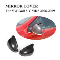 Carbon Fiber Rear Rearview Mirror Covers Caps For VW Golf 5 V MK5 GTI R32 2006 2007 2008 2009