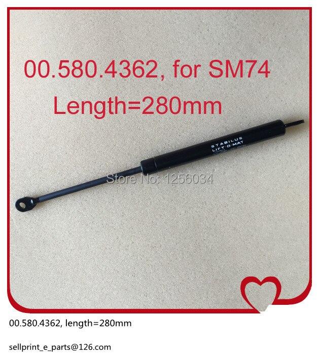 1 piece 00.580.4362 buffer pneumatic rod Telescopic gas spring for heidelberg SM74 machine length=280mm