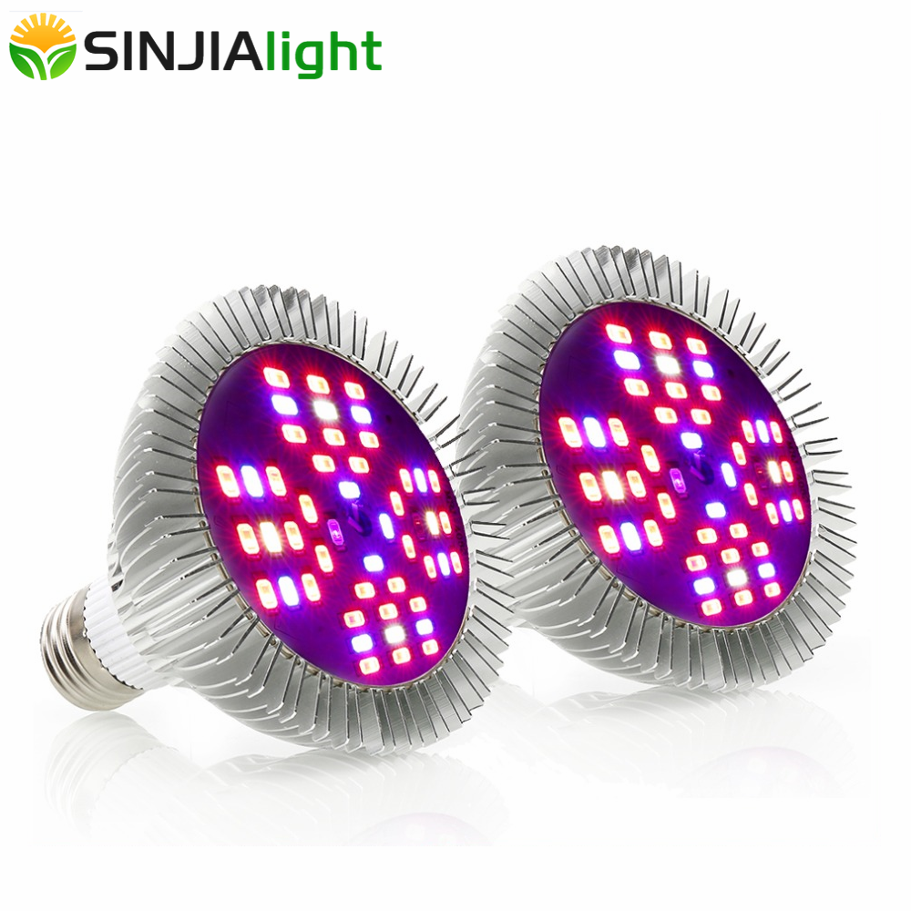 2pcs 4pcs 48W Full Spectrum LED Grow Lights Flower Bulb Plant Growing Lamp For Seedling Indoor Plants Grow Box Hydroponics