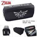 The legend of Zelda Zelda juego logo Bolsa a granel bolsa de doble cremallera cartera Monedero Negro