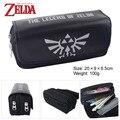 The legend of Zelda Zelda juego logo Bolsa a granel bolsa de doble cremallera cartera Monedero Negro