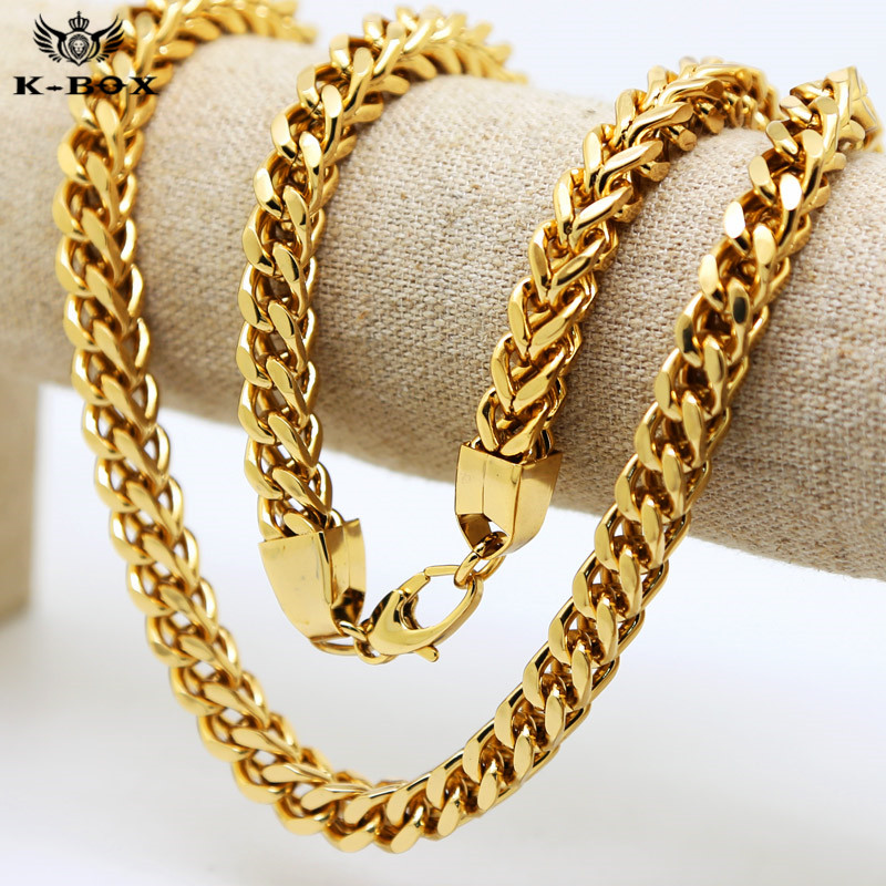 """24/"""" inch long 6MM thick 14K GOLD PLATED HERRINGBONE CHAIN NECKLACE"""