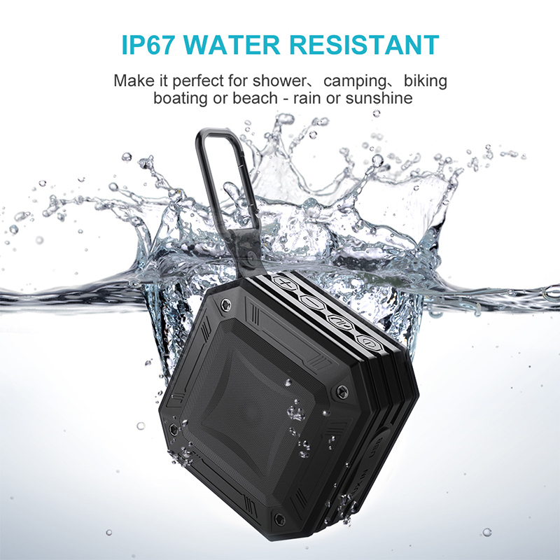 MEIDI AUX interface Waterproof Bluetooth Speaker Outdoor Water Resistant  Portable FM Radio Speakers Box 20 Hours of Play Time on Aliexpress com |
