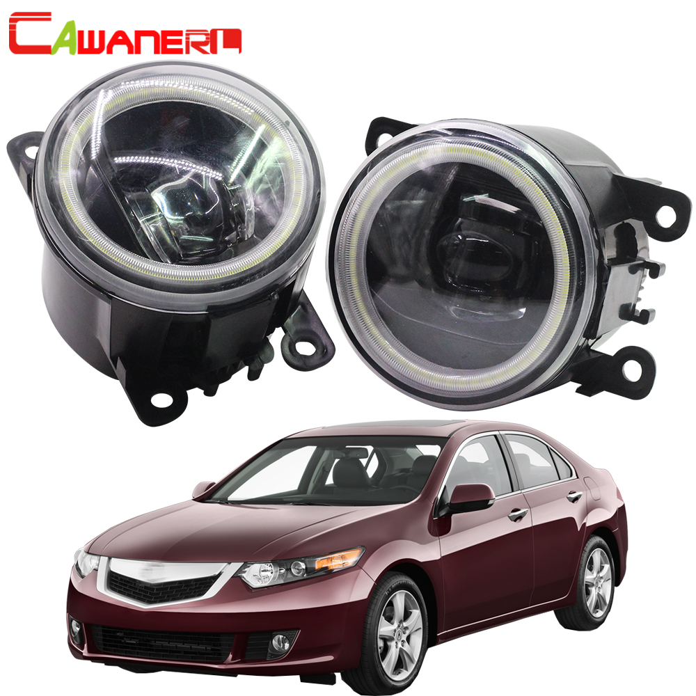 Cawanerl 2 X Car 4000LM LED Lamp Fog Light Angel Eye