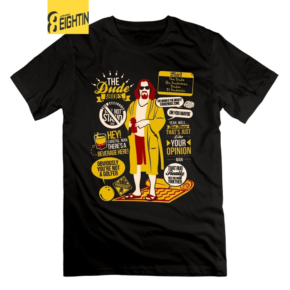 Eightin The Dude Quotes The Big Lebowski Funny T Shirt 100