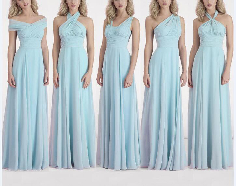 Bridesmaid Dress 2016 Custom Made Infinity Dress Convertible Chiffon ...
