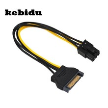 Kebidu Kuat Kabel Daya PSU Power Supply Sata PCI-E express untuk 6 pin ATX 18AWG Adapter Riser untuk Bitcoin Miner Hot jual(China)