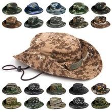Boonie широкими буш полями рыбак ripstop ведра джунгли уф-защита вс шляпы