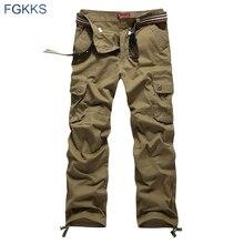 FGKKS 2020 New Arrival sprężyna wysokiej jakości styl modna odzież solidne męskie spodnie Cargo spodnie męskie z bawełny biegaczy Plus rozmiar