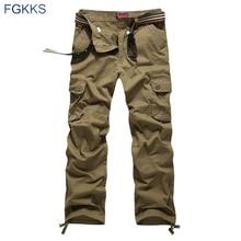 Fgkks 2020 nova chegada de alta qualidade primavera estilo moda roupas sólidos dos homens calças carga algodão calças dos homens corredores mais tamanho