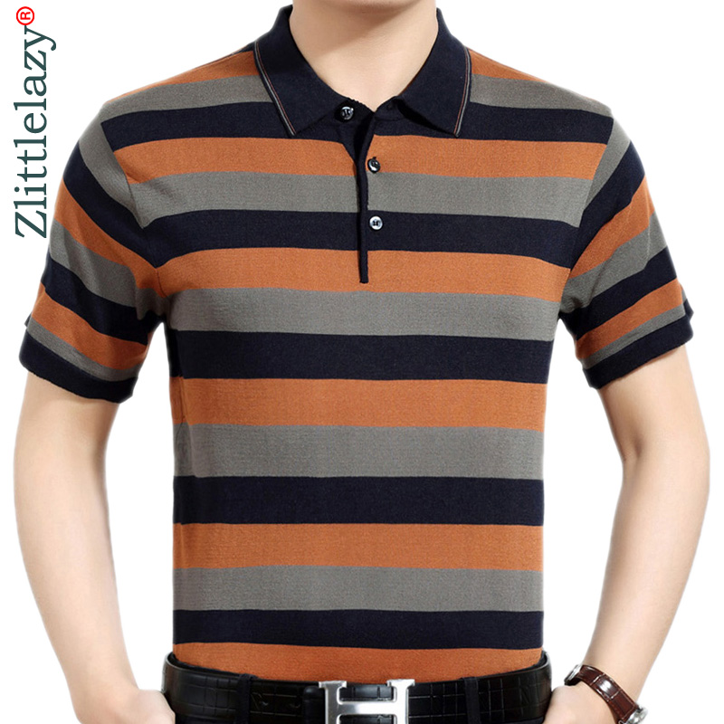 Summer   polo   shirt men short sleeve   polos   shirts striped slim fit mens pol clothes dress bodybuilding streetwear poloshirt 6201