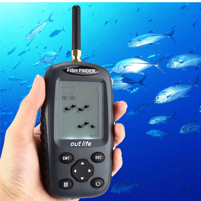 2017 New Smart Portable Fish Finder FF998 Rechargeable Sonar Fish Finder Wireless125KHz Sonar Sensor Wireless Fishfinder runacc smart portable fish finder wireless fishfinder portable fish finder with wireless sonar sensor and lcd display