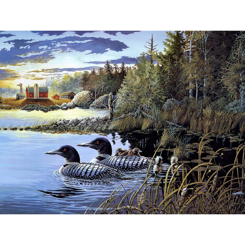 Duck in the setting sun poultry canvas prints fine arts for house art prints for sale wall decoration
