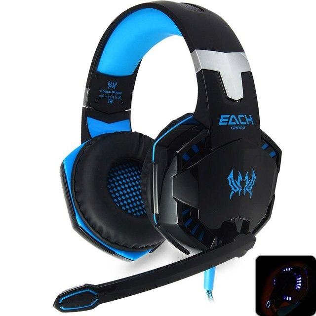 КАЖДЫЙ G2000 Gaming Headset Стерео Звук 2.2 м Проводной Игры Наушники Наушники Шума с Скрытый Микрофон для PC Gamer