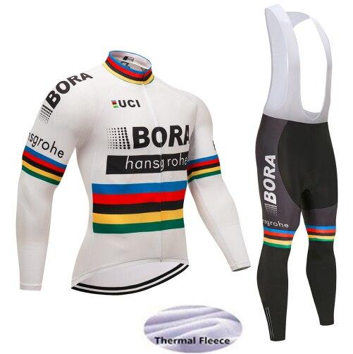 2017 equipo invierno BORA pro cycling jersey pantalones set Ropa Ciclismo MTB ropa bike desgaste de ciclo a prueba de viento de цены