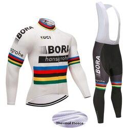 2017 equipo invierno BORA pro cycling jersey pantalones set Ropa Ciclismo MTB ropa bike desgaste de ciclo a prueba de viento de