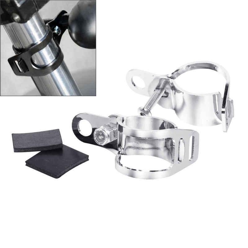 Motocicleta 30mm ~ 45mm faro intermitente luz indicador lateral montaje ligero soporte Kit de tenedor