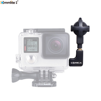 COMICA Ball shaped Stereo Video Microphone Interview Microphone for GoPro Cameras Hero 3, 3+, 4, 5