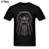Custom Short Sleeve Boyfriend S Valhalla Odin Vikings T Shirt New Designed Family XXXL Tees Shirts