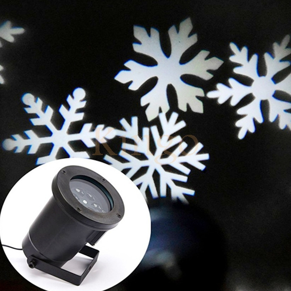 Kingoffer NEW IP65 Waterproof White Colorful Moving Snow Laser Projector Snowflake LED Stage Light For Christmas Party Landscape недорого