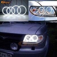 For UAZ Patriot Baijah Tulos 2007 2014 Excellent Ultra bright illumination smd led Angel Eyes Halo Ring kit DRL